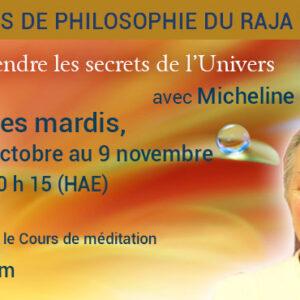 Annonce Cours de philosophie du Raja Yoga