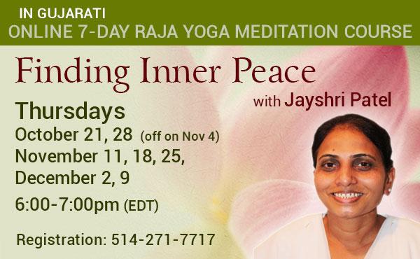 Announcement for a meditation course in Gujurati